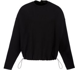 Safety Pin Cotton-Blend Sweater