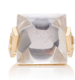 Harlow Crystal Diamond Cocktail Ring Size: 7