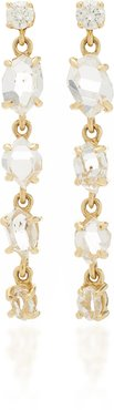 Herkimer 18K Gold Diamond Earrings