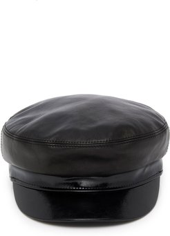 M'O Exclusive Majorette Smooth And Patent-Leather Cap