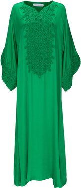 Embroidered Jersey Caftan
