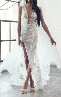Laura V-Neck Gown
