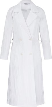 Double Breasted Shell Trench Coat