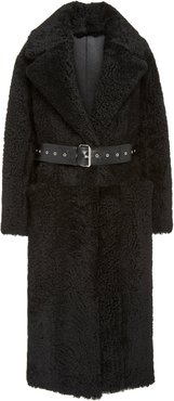Love Belted Shearling Coat Size: 38