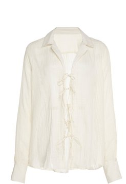 One Of A Kind Tie-Front Cotton Blouse
