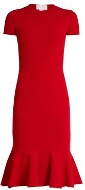 Cut Out Back Crepe Jersey Dress - Womens - Red