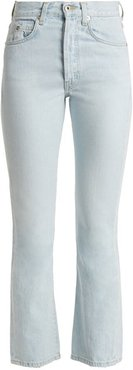 Jane High Rise Straight Leg Cropped Jeans - Womens - Light Blue