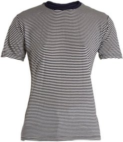 Alexa Striped Jersey T-shirt - Womens - Blue Multi