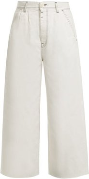 High-rise Wide-leg Jeans - Womens - Ivory
