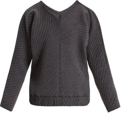 On The Qt Quilted Wool Blend Sweater - Womens - Grey