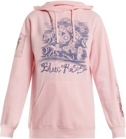 Suddenly Print Cotton Blend Hooded Sweatshirt - Womens - Pink