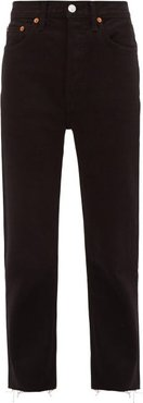 Stove Pipe High-rise Jeans - Womens - Black