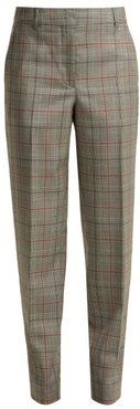 Wall Street Prince Of Wales-checked Wool Trousers - Womens - Grey Multi