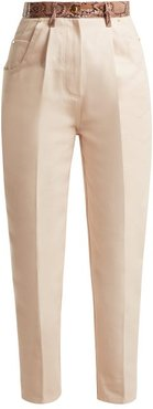 Python Effect High Rise Jeans - Womens - Pink
