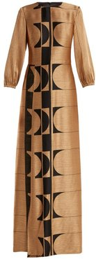 Osiris Abstract Jacquard Gown - Womens - Gold Multi