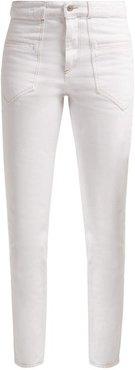 Overa High Rise Slim Fit Jeans - Womens - White