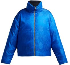 Reversible Silk Down Filled Jacket - Womens - Blue