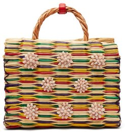 Chito Reed Basket Bag - Womens - Red Multi