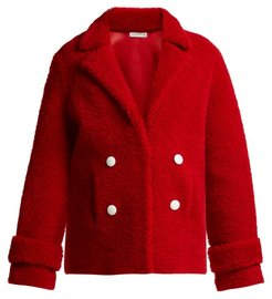 Dorota Double Breasted Shearling Jacket - Womens - Red