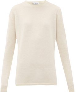 Long-line Fine-knit Cashmere Sweater - Womens - Ivory