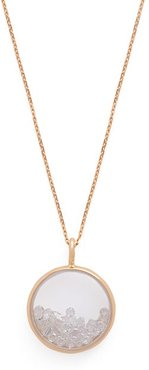 Chivor 18kt Gold And Diamond Medallion Necklace - Womens - Crystal