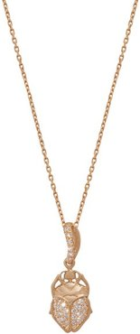 Beetle 18kt Gold And Diamond Necklace - Womens - Gold