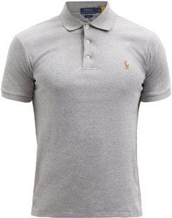 Slim-fit Cotton Polo Shirt - Mens - Grey