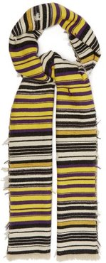 Lurra Striped Scarf - Womens - Yellow