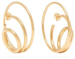 Ricoche 18kt Gold Plated Hoop Earrings - Womens - Gold