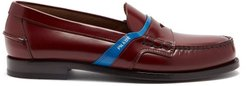 Bi Colour Leather Loafers - Mens - Burgundy