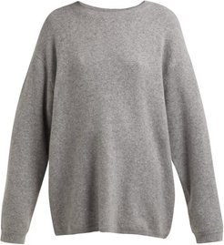 Oversized Cashmere Blend Sweater - Womens - Grey