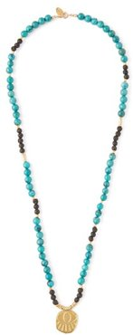 Lerissos Turquoise Beaded Charm Necklace - Womens - Green