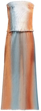 Prism Pleated Lamé Gown - Womens - Silver Multi