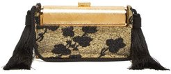 Régine Lamé And Gold Plated Minaudière Clutch - Womens - Black Gold