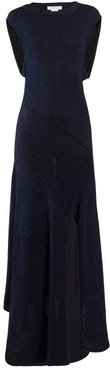 Open-back Knitted Midi Dress - Womens - Navy