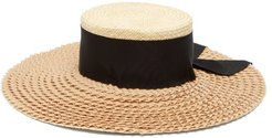 Henrietta Wide Brim Straw Hat - Womens - Beige