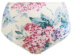 Bloom Floral Print Bikini Briefs - Womens - Blue Print