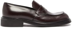 Penny Leather Loafers - Mens - Burgundy