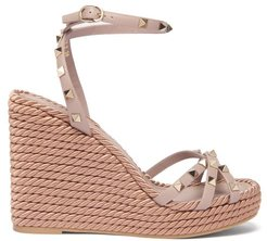 Torchon Rockstud Leather Wedge Sandals - Womens - Nude