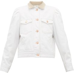 Nolinea Faux Shearling Denim Jacket - Womens - White