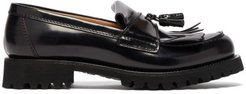 Catrina Tassel Leather Loafers - Womens - Black
