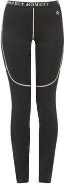 Thermal Technical Jersey Leggings - Womens - Black