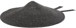 Maxi Cone Straw Hat - Womens - Black