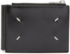 Leather Bi Fold Wallet - Mens - Black