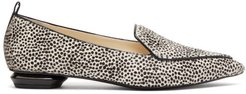 Beya Leopard Print Calf Hair Loafers - Womens - Black White