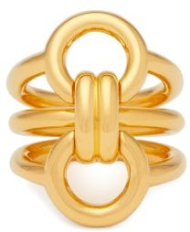 Trypitch Detachable Linked 18kt Gold Plated Rings - Womens - Yellow