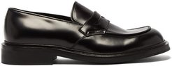 Leather Penny Loafers - Mens - Black