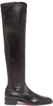 Theophila Over The Knee Leather Boots - Womens - Black