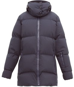 Elk Quilted Down Jacket - Womens - Navy