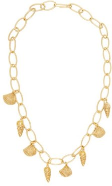 Panama Shell Charm 18kt Gold Plated Necklace - Womens - Gold
